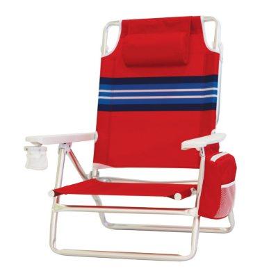 Nautica Red Beach Chair.  Ends: Oct 20, 2014 11:35:00 AM CDT
