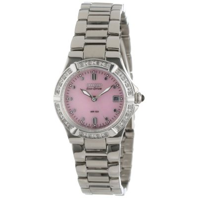 Citizen Women's Eco-Drive Riva Diamond Accented Stainless Steel Watch.  Ends: Mar 30, 2015 7:12:00 PM CDT