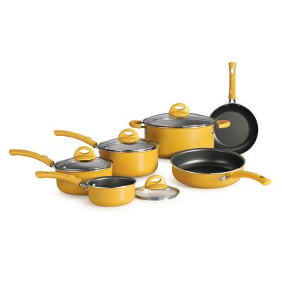 Simple Cooking 10 Pc. Cookware Set, Yellow.  Ends: Sep 2, 2014 9:06:00 PM CDT