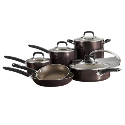 Daily Chef 11-Piece Cookware Set, Black.  Ends: Mar 6, 2015 2:03:00 PM CST