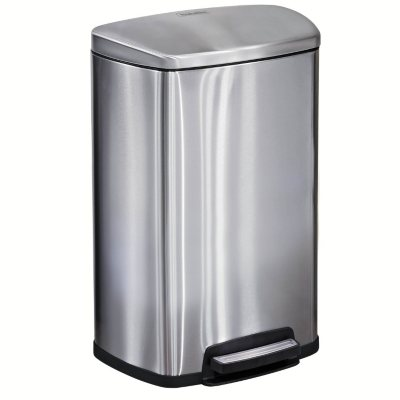 Tramontina 13 Gal Step Trash Can, Stainless Steel.  Ends: Jul 30, 2016 8:00:00 PM CDT
