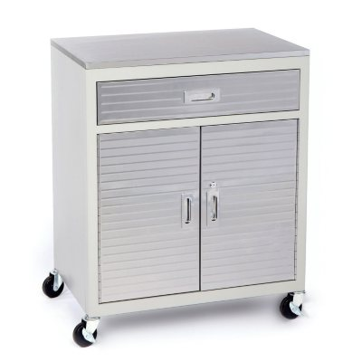 Seville Classics One Drawer Cabinet Stainless Steel Top.  Ends: Oct 21, 2014 4:25:00 AM CDT