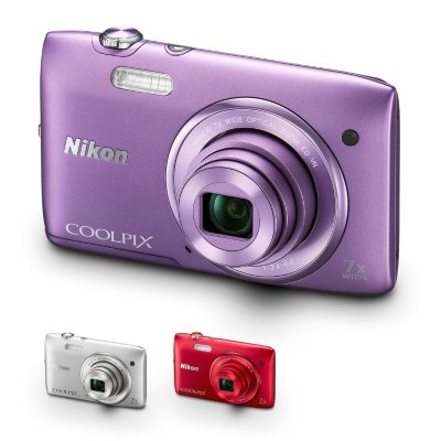 Nikon S3500 20MP Digital Camera - Purple.  Ends: Dec 18, 2014 6:00:00 PM CST