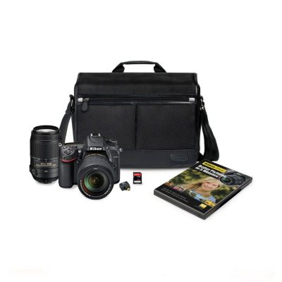 Nikon D7100 24.1MP HD-SLR Bundle with 18-140mm VR Lens and 55-300mm VR Lens, Bonus Bag, WiFi Adapter, and 32GB SD Card.  Ends: Mar 31, 2015 1:00:00 AM CDT