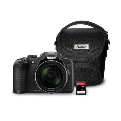 Nikon Coolpix P610 16MP CMOS Camera Bundle with 60x Optical Zoom, 16GB SD Card, and Camera Bag.  Ends: Jul 30, 2016 10:03:00 AM CDT