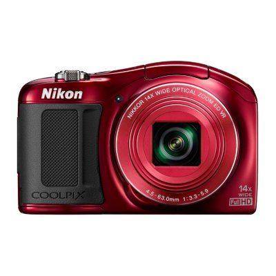 Nikon Coolpix L620 18.1MP CMOS HD with 14x Optical Zoom - Red