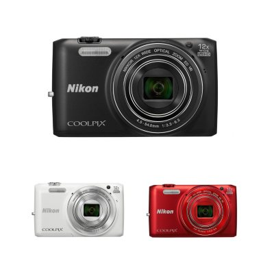 Nikon Coolpix S6800 16MP CMOS Digital Camera with 12x Optical Zoom - Black