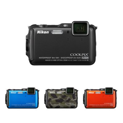 Nikon AW120 16MP CMOS Waterproof Digital Camera with 5x Optical Zoom - Black.  Ends: Apr 1, 2015 10:30:00 AM CDT