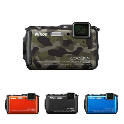 Nikon AW120 16MP CMOS Waterproof Digital Camera with 5x Optical Zoom - Camo.  Ends: Mar 31, 2015 11:40:00 PM CDT