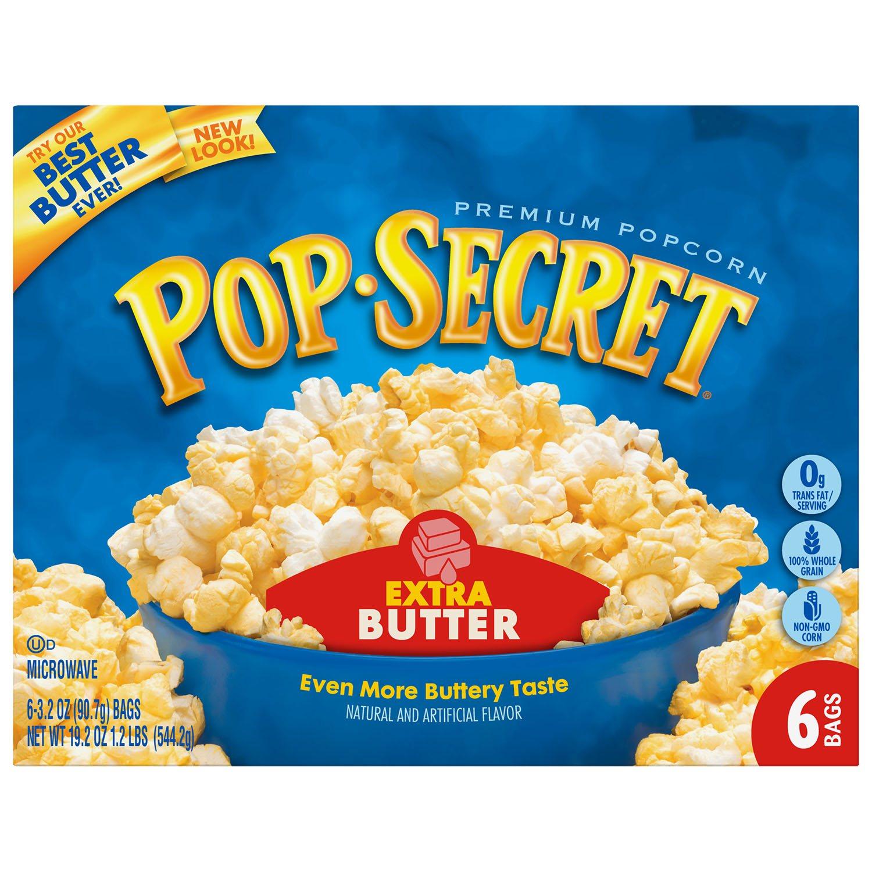 Plain Microwave Popcorn Pop Secret Microwave Popcorn