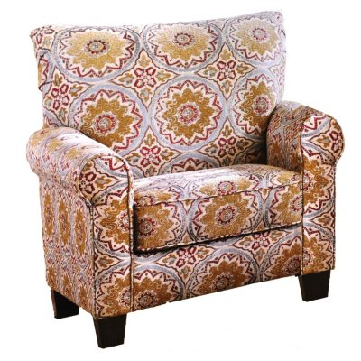 Ashley Furniture Barnwell Accent Chair, Medallion Print.  Ends: Oct 25, 2014 4:00:00 AM CDT