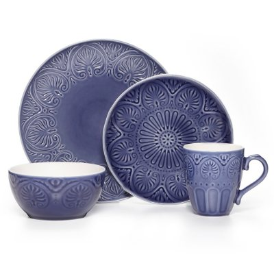 Pfaltzgraff Carmela Dinnerware, Cobalt (16-Piece Set).  Ends: Dec 19, 2014 12:20:00 AM CST