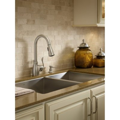 Moen Boutique Pulldown Kitchen Faucet in Spot Resist™ Stainless.  Ends: Mar 5, 2015 3:00:00 PM CST