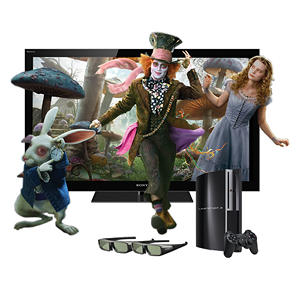 "46"" 120 HZ LED 3D TV with 160 GB PS3"