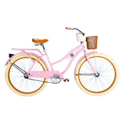 Huffy 26 in. Deluxe Pink Pearl Women's Classic Cruiser Bike.  Ends: Apr 28, 2016 3:00:00 PM CDT