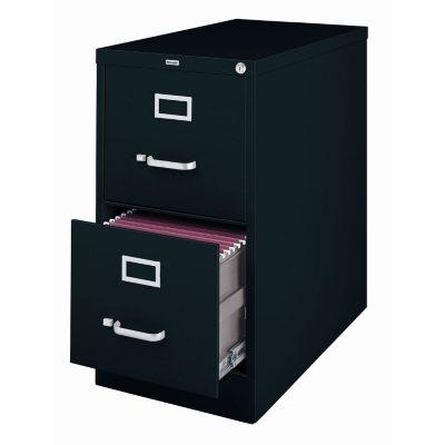 Hirsh 2-Drawer Locking File Cabinet, Black