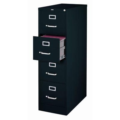 Hirsh 4-Drawer Locking File Cabinet, Black.  Ends: Jun 24, 2016 7:00:00 PM CDT