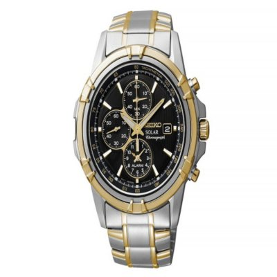Seiko Men's Solar Chronograph Black Dial Watch.  Ends: May 3, 2016 7:55:42 AM CDT