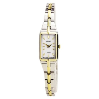 Seiko Woman's Solar Two-Tone Stainless Steel Watch.  Ends: May 3, 2016 3:25:24 PM CDT