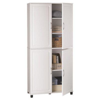 5-Shelf Storage Cabinet, White.  Ends: Sep 21, 2014 11:00:00 AM CDT