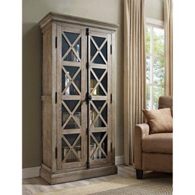 Ameriwood Gentry Solid Poplar Wood Cabinet