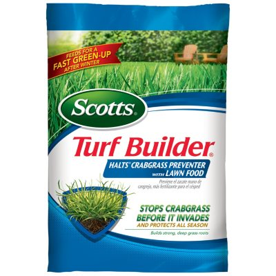 Scotts Turf Builder with Halts Crabgrass Preventer (covers 12K sq. ft.).  Ends: May 25, 2016 5:40:00 PM CDT