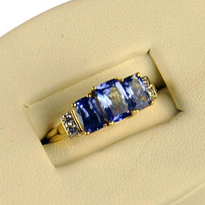 Three-Stone Tanzanite Ring