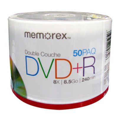 Memorex DVD+R Dual Layer - 50 pk..  Ends: Nov 23, 2014 5:00:00 AM CST