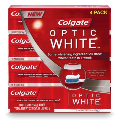Colgate Optic White Toothpaste  - 4 pk. - 5.5 oz..  Ends: Apr 1, 2015 3:00:00 PM CDT