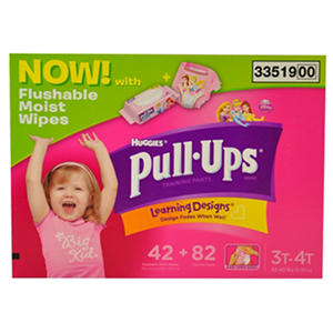 Pull Ups with Wipes - 82 Count - Girls/Large