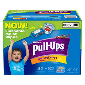 Pull Ups with Wipes - 82 Count - Boys 3T-4T