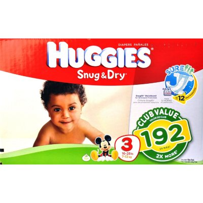 Huggies Snug & Dry Diapers, Size 3 (192 Ct.).  Ends: Oct 2, 2014 1:50:00 AM CDT