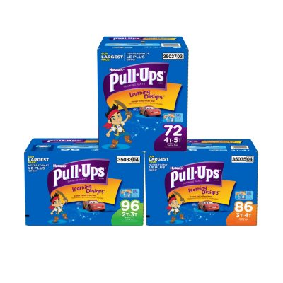 Huggies Pull-Ups Training Pants for Boys, Size 4T-5T (38+ lbs.), 72 ct..  Ends: Feb 1, 2015 8:50:00 AM CST