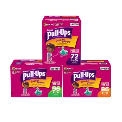 Huggies Pull-Ups Training Pants for Girls, Size 4T-5T (72 ct.).  Ends: Jan 29, 2015 2:40:00 PM CST