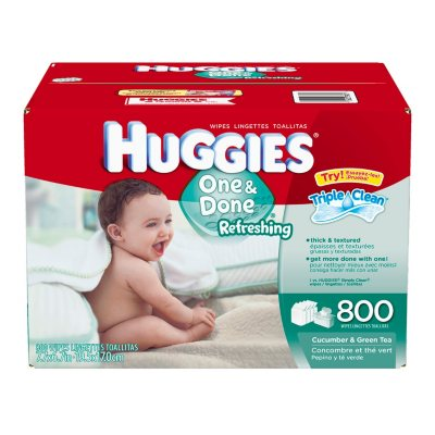 Huggies One & Done Refreshing Baby Wipes, 800 ct..  Ends: Dec 22, 2014 11:25:00 PM CST
