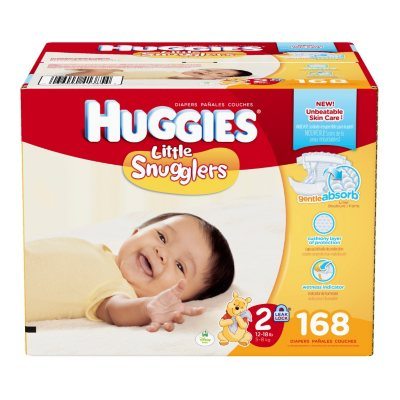 Huggies Little Snugglers Diapers (Size 2, 168 ct.).  Ends: Dec 22, 2014 12:35:00 PM CST