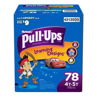 Huggies Pull-Ups Training Pants for Boys, XL Size 4T-5T (78 Count).  Ends: Jun 26, 2016 2:35:00 PM CDT