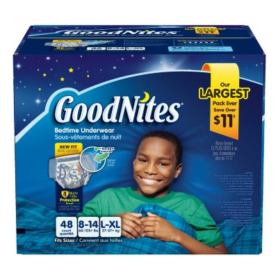 GoodNites Bedtime Underwear for Boys, Large/XLarge (48 Count).  Ends: Jul 31, 2016 5:00:00 AM CDT