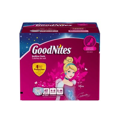 GoodNites Bedtime Underwear for Girls, Size S/M (62 ct.).  Ends: May 25, 2016 9:40:00 PM CDT