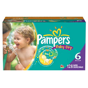 Pampers Baby Dry, Size 6 (35+ lbs.), 128 ct.