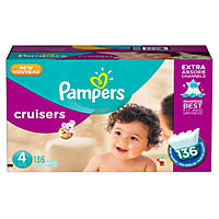 Pampers Cruisers Diapers, Size 4 (136 Count)