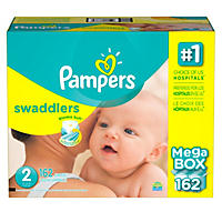 Pampers Swaddlers Diapers, Size 2 (162 ct.)