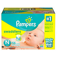Pampers Swaddlers Diapers, Newborn (156 ct.)