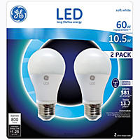 GE LED 10.5 Watt General Use Bulb (2-Pk.)