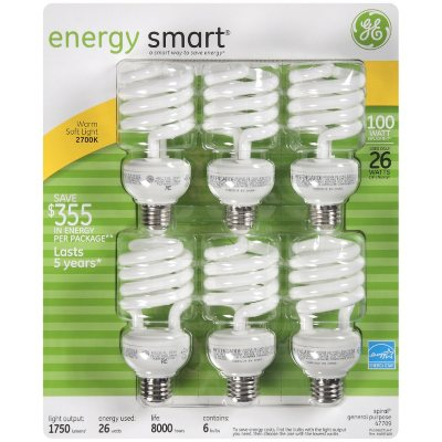 GE Soft White Light Bulbs (6/26 watt bulbs).  Ends: Feb 13, 2016 6:50:00 AM CST