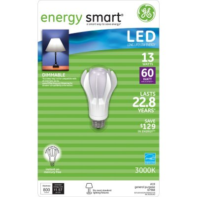 AUCTION SKU: GE Energy Smart® LED 13-Watt/60 Watt Equivalent Light Bulb.  Ends: Mar 5, 2015 9:00:00 PM CST