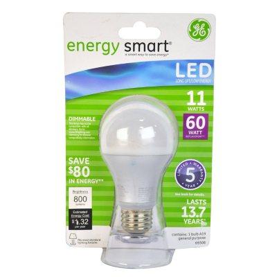 GE Energy Smart LED 11-Watt General Use Bulb.  Ends: Mar 2, 2015 9:00:00 AM CST