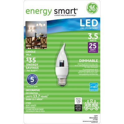 GE LED Decorative Bulb.  Ends: Oct 2, 2014 2:15:00 PM CDT