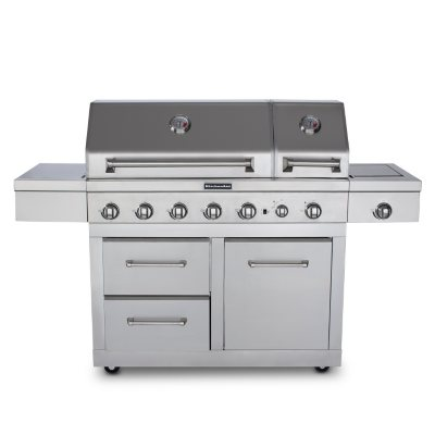"""KitchenAid 44"""" Dual Lid Outdoor Gas Grill with Rotisserie Kit.  Ends: Nov 23, 2014 6:00:00 PM CST"""