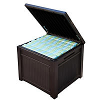 Keter 55 Gallon Rattan Storage Cube Table